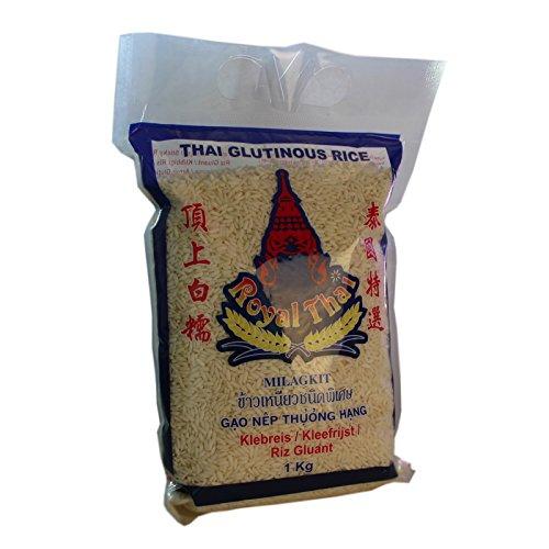 Royal Thai – Klebreis Sticky Rice – 3er Pack (3 x 1kg) – Original Thai -